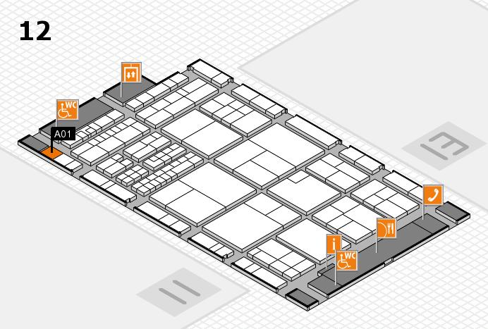 interpack 2017 Hallenplan (Halle 12): Stand A01