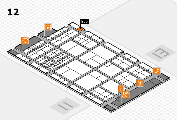 interpack 2017 hall map (Hall 12): stand B55
