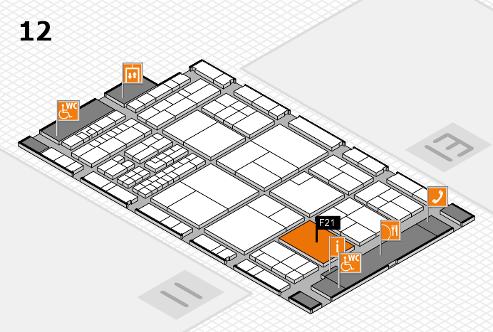 interpack 2017 hall map (Hall 12): stand F21