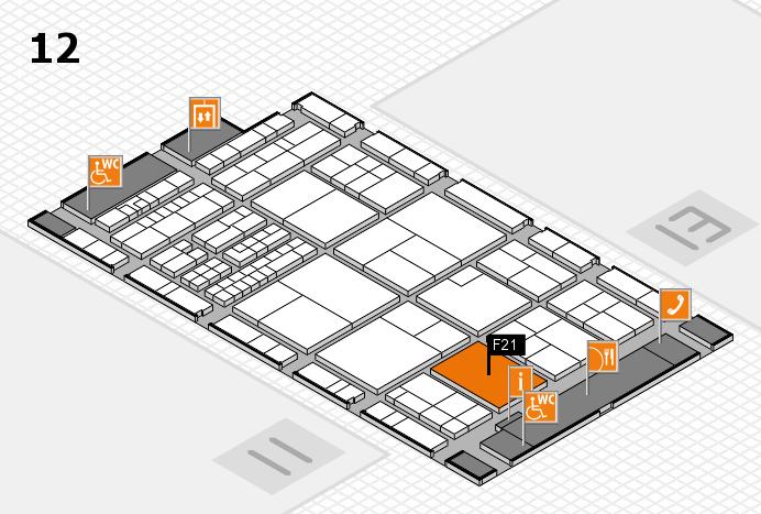 interpack 2017 Hallenplan (Halle 12): Stand F21