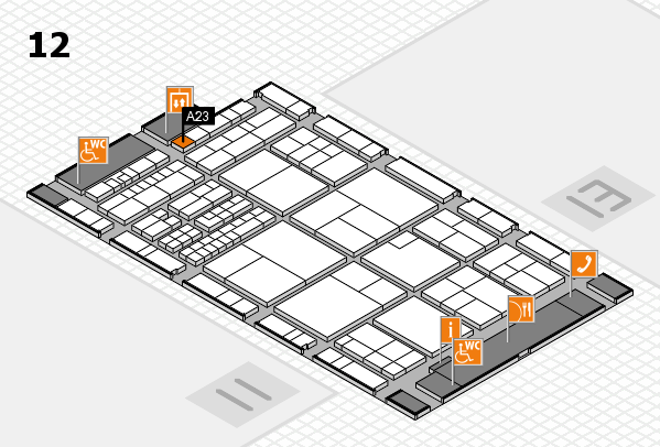 interpack 2017 hall map (Hall 12): stand A23
