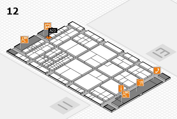 interpack 2017 Hallenplan (Halle 12): Stand A23