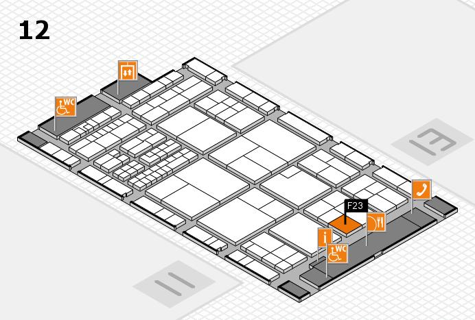 interpack 2017 Hallenplan (Halle 12): Stand F23