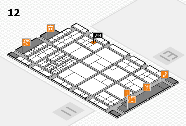interpack 2017 hall map (Hall 12): stand B44