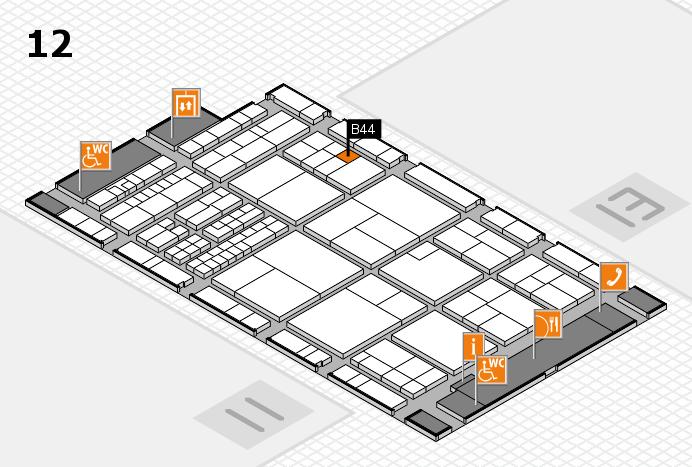 interpack 2017 Hallenplan (Halle 12): Stand B44