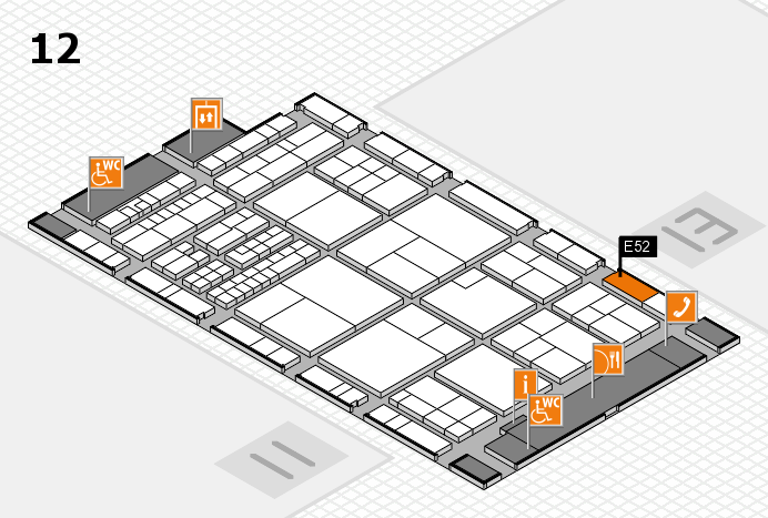 interpack 2017 hall map (Hall 12): stand E52