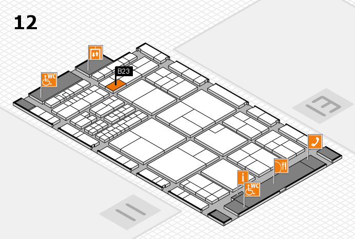 interpack 2017 hall map (Hall 12): stand B23