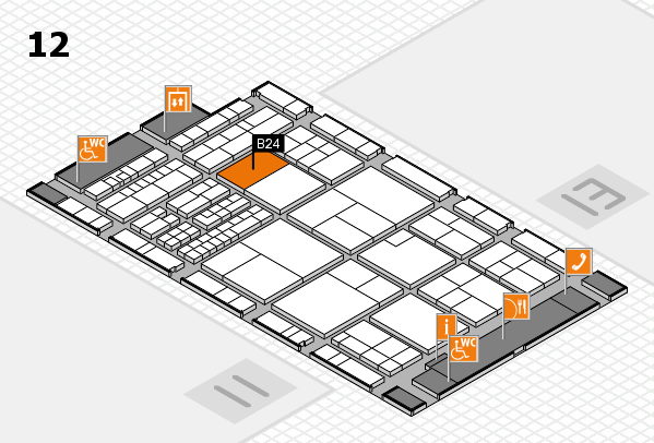 interpack 2017 hall map (Hall 12): stand B24