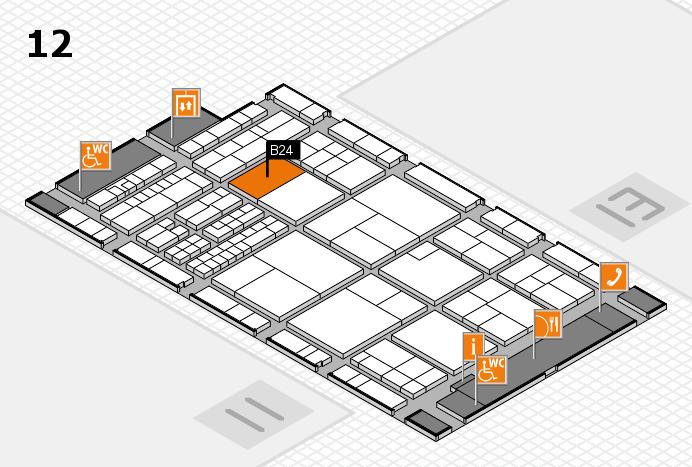 interpack 2017 Hallenplan (Halle 12): Stand B24