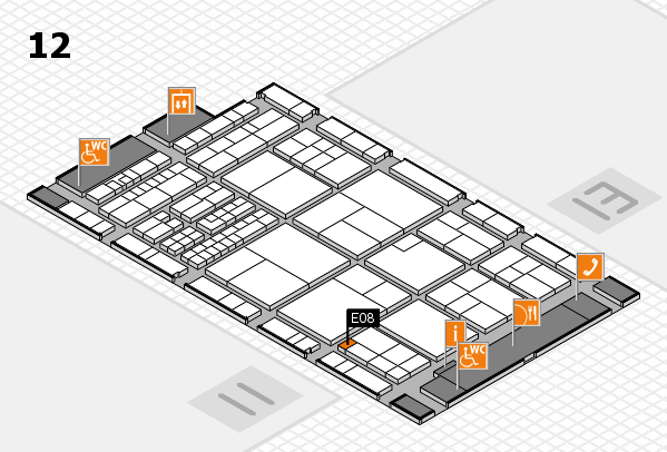 interpack 2017 hall map (Hall 12): stand E08