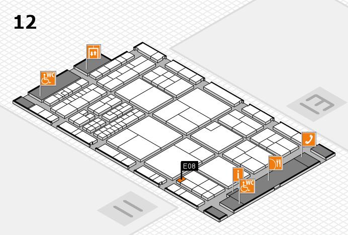 interpack 2017 Hallenplan (Halle 12): Stand E08