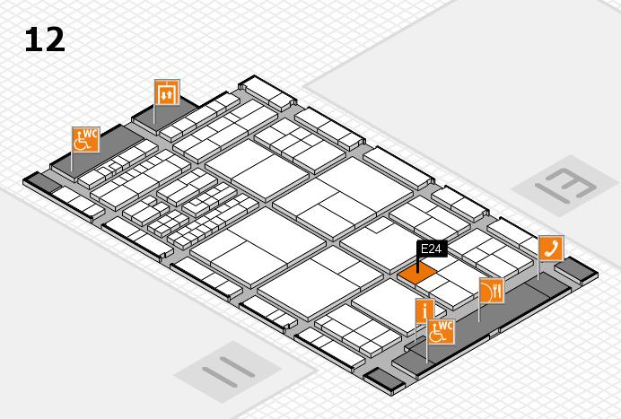 interpack 2017 Hallenplan (Halle 12): Stand E24