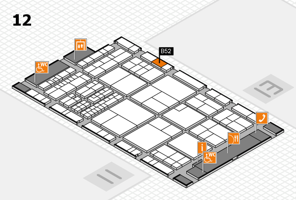 interpack 2017 hall map (Hall 12): stand B52