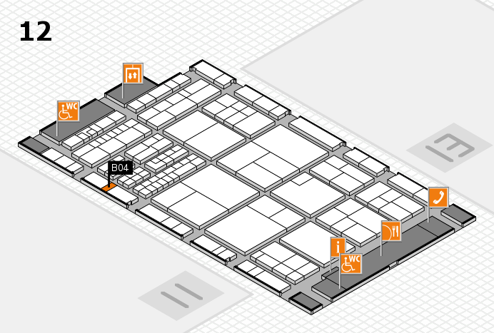interpack 2017 hall map (Hall 12): stand B04