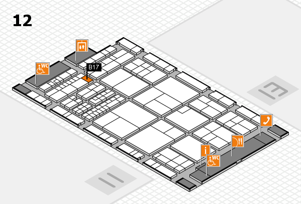 interpack 2017 hall map (Hall 12): stand B17