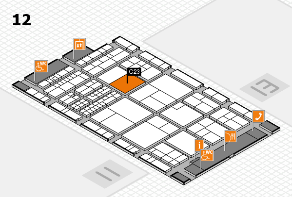 interpack 2017 Hallenplan (Halle 12): Stand C23