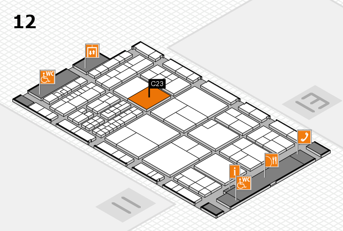 interpack 2017 hall map (Hall 12): stand C23