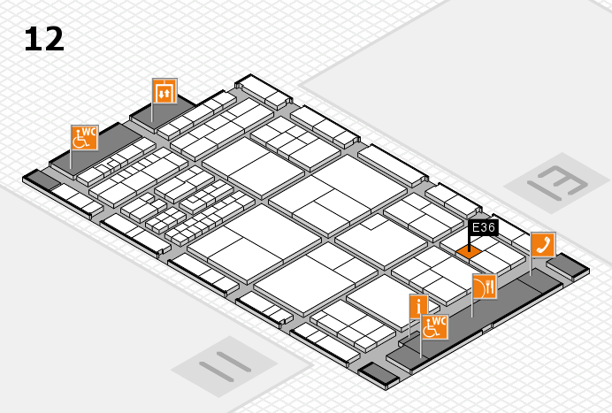 interpack 2017 hall map (Hall 12): stand E36