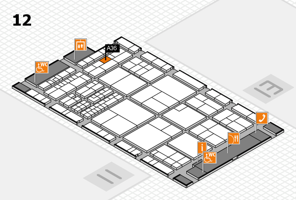 interpack 2017 hall map (Hall 12): stand A36