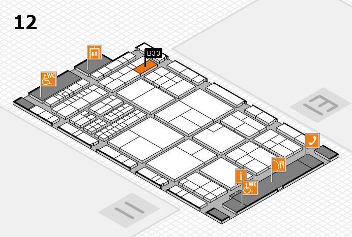 interpack 2017 Hallenplan (Halle 12): Stand B33