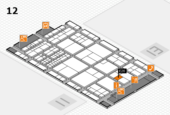 interpack 2017 hall map (Hall 12): stand E26