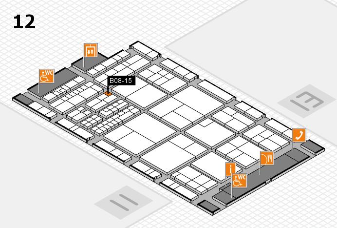 interpack 2017 Hallenplan (Halle 12): Stand B08-15