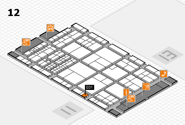 interpack 2017 hall map (Hall 12): stand E01