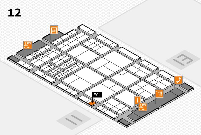 interpack 2017 Hallenplan (Halle 12): Stand E01