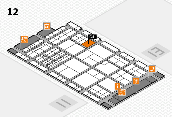 interpack 2017 hall map (Hall 12): stand C41