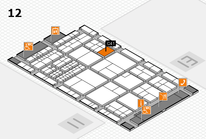 interpack 2017 Hallenplan (Halle 12): Stand C41