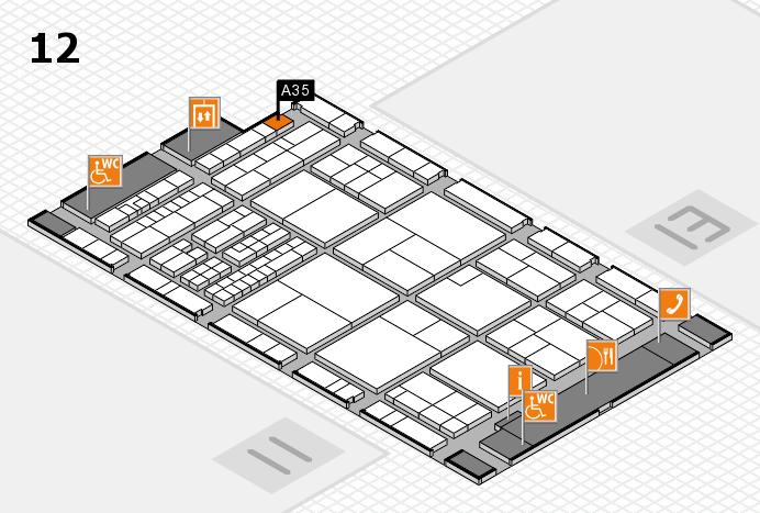 interpack 2017 Hallenplan (Halle 12): Stand A35