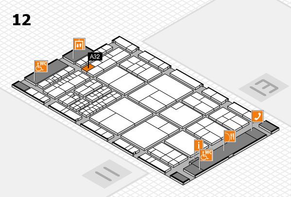 interpack 2017 Hallenplan (Halle 12): Stand A32