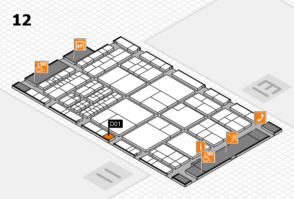 interpack 2017 hall map (Hall 12): stand D01