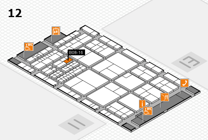 interpack 2017 hall map (Hall 12): stand B08-16