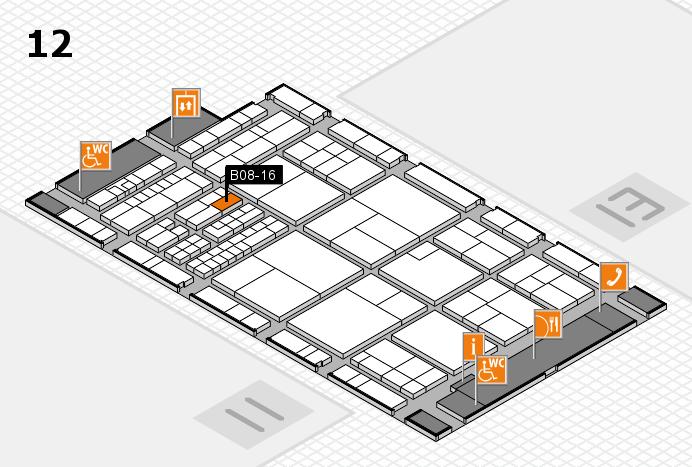 interpack 2017 Hallenplan (Halle 12): Stand B08-16