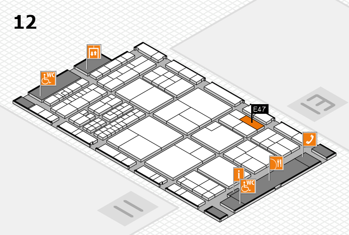 interpack 2017 hall map (Hall 12): stand E47