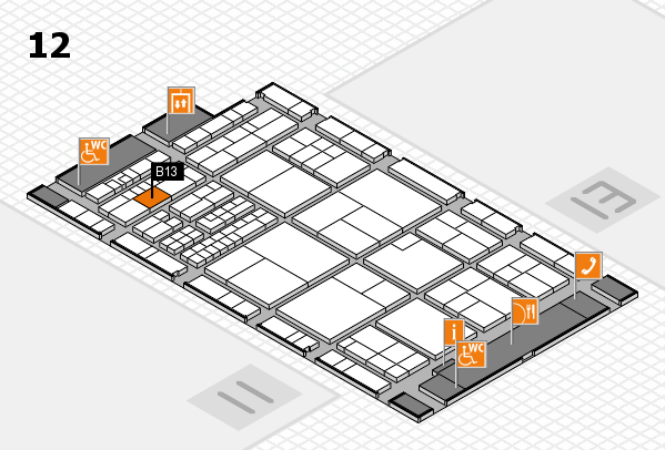 interpack 2017 hall map (Hall 12): stand B13