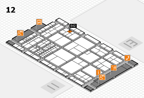 interpack 2017 hall map (Hall 12): stand B42