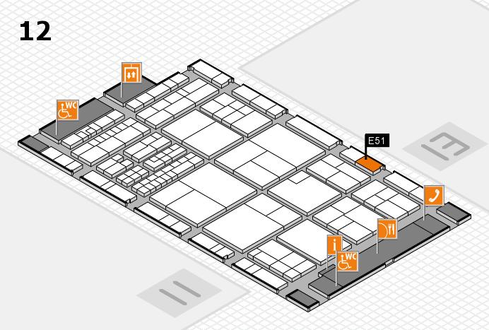 interpack 2017 Hallenplan (Halle 12): Stand E51