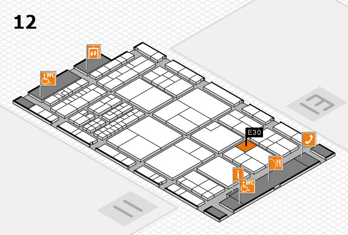 interpack 2017 hall map (Hall 12): stand E30