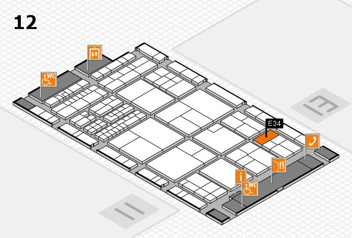 interpack 2017 Hallenplan (Halle 12): Stand E34