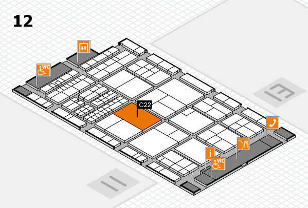 interpack 2017 hall map (Hall 12): stand C22