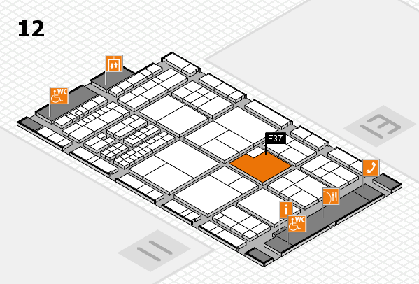 interpack 2017 hall map (Hall 12): stand E37