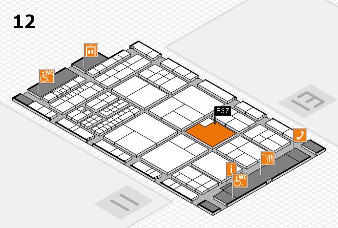 interpack 2017 Hallenplan (Halle 12): Stand E37