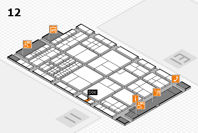 interpack 2017 hall map (Hall 12): stand D04