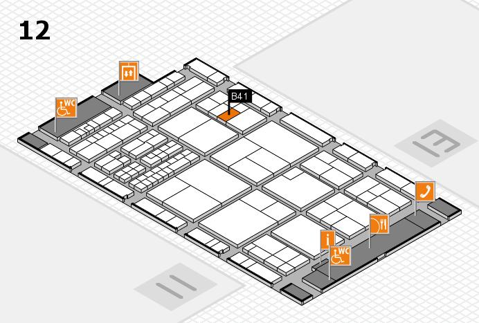 interpack 2017 Hallenplan (Halle 12): Stand B41