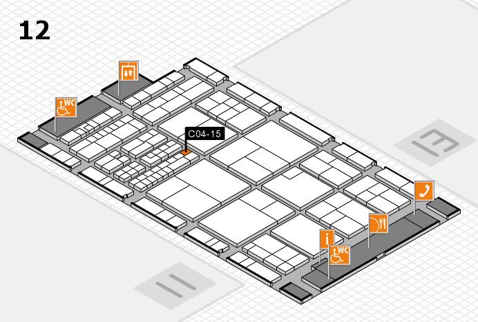 interpack 2017 Hallenplan (Halle 12): Stand C04-15