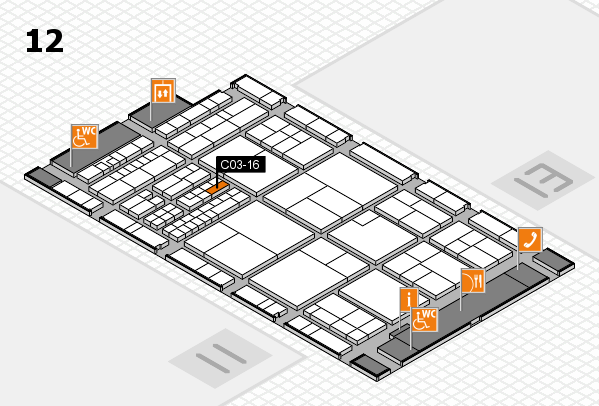 interpack 2017 hall map (Hall 12): stand C03-16