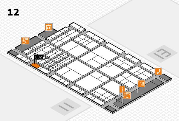 interpack 2017 Hallenplan (Halle 12): Stand B02