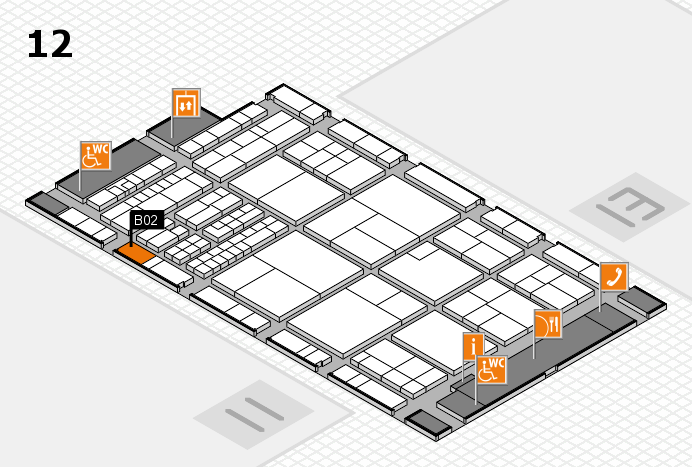 interpack 2017 hall map (Hall 12): stand B02